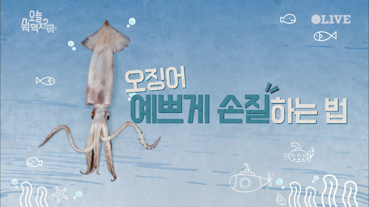 오징어 예쁘게 손질하는 법 (살림레벨up!)